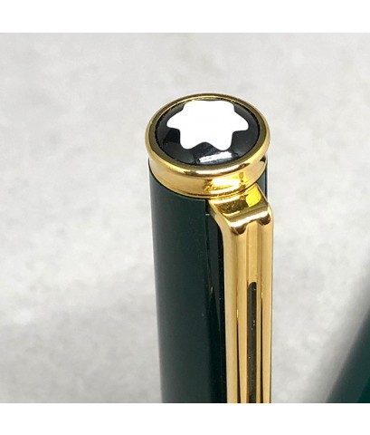 ปากกา Montblanc Classic Fountain Pen ตัวด้ามอครีลิคเขียวเข้มหัวเป็ด ระบบเติมหมึกแบบใหม่ ชุดเหน็บเครื