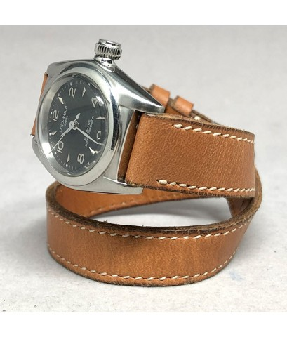 ZENO watch basel millitary automatic lady size 27mm หน้าปัดดำประดับหลักเวลาอารบิคสลับขีดเงินเงา เดิน