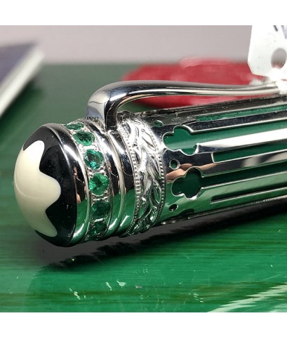 ปากกาหมึกซึม MONTBLANC PETER The Great Limited Edition ผลิตเพียง 323 / 888 ตัวเรือนทองคำขาว 18k Whit