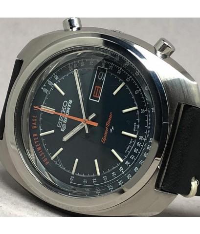 Seiko Speedtimer Flyback 7017-8010S Chronograph Automatic 1980s Size 40mm หน้าปัดน้ำเงินสไลด์เงาประด
