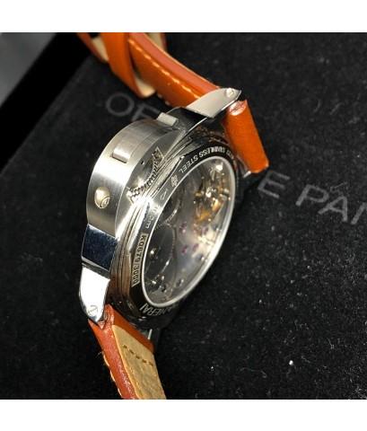 PANERAI 111 ไขลาน ลิมิเตต หมายเลข K06XX / 3000 ขนาดตัวเรือน 44mm หน้าปัดดำ (แซนวิช) เดินเวลา 2 เข็มค