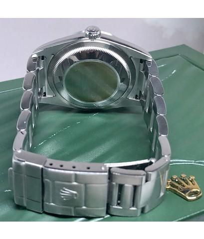 ROLEX Exproler 114270 ขนาด 36mm ใส่ได้ทั้งชาย หญิง หน้าปัดดำประดับหลักเวลาอารบิคสลับขีดสอดพรายน้ำ กร