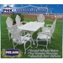 เก้าอี้อัลลอย ชุดสนามอัลลอยแท้ ลายสานเพชร 6 ที่นั่ง โต๊ะสี่เหลี่ยม PNK.8496