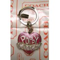 COACH POPPY HEART BLINK KEYCHAIN