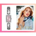 ==SOLD OUT==GUESS CRYSTAL PINK DIAL LADIES WATCH