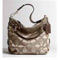 กระเป๋าสะพาย COACH SIGNATURE BROOKE SATEEN KHAKI HOBO BAG 14147