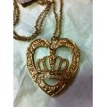 สร้อยคอ GUESS PRINCESS CROWN IN HEART NECKLACE