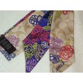 ผ้าผูกผม COACH DAISY SIGNATURE SCARF MULTI PURPLE PONYTAIL 83299