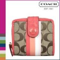 กระเป๋าสตางค์ COACH SIGNATURE MULTI STRIPE MEDIUM WALLET 49346
