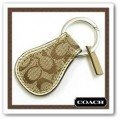 พวงกุญแจ COACH SIGNATURE TEAR DROP KEY  FOB 92699