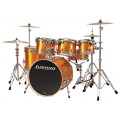 กลองชุด LUDWIG Element PVC: 6-ply Select Hardwood Shells