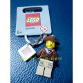 Lego Johnny Thunder Figure Keychain