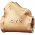 KITZ Bronze Check Valve W.O.G. 150P Psi. Thread End to BS21 Size 1 Inch. model. YR