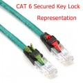 CAT 6 Secured Key Lock RJ45 - RJ45 PATCH CORD 3 M.