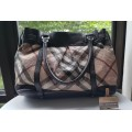 BURBERRY Tote PVC Bag