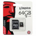 เมมโทรศัพท์ Kingston Micro SDHC Class10 Memory Card 64 GB