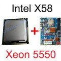 Mainboard intel X58 Socket 1366 + CPU Xeon X5550 Professional Gamer