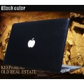 เคสหนัง leather hard case for Macbook Pro 13 with Retina Display - สีดำ