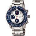 Seiko Alarm Chronograph Flight Computer Mens Watch SNA413