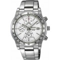 นาฬิกา Seiko Silver Dial Chronograph Tachymeter Stainless Steel Mens Watch SNDD03
