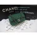 New Chanel Classic mini 8 นิ้ว Green caviar Top Mirror Image 7 stars อะไหล่เงิน