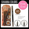 ดินสอเขียนคิ้ว Dual End eyebrow Sivanna Colour DP-020 NO.05(Red Brown)