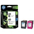 HP 60 Combo-pack Black/Tri-color Ink Cartridges (CN067A)