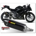 AKRAPOVIC CARBON / TITANIUM SLIP ON (NINJA250 2013)