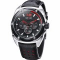 WEIDE WH3306-3 Men Sports Watch [Black-Red]