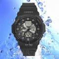 OHSEN – AD1216-1: Dual System Alarm / Chronograph Sports Watch
