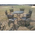 oxford sunvilla mesh top dinning table