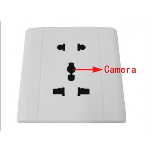 กล้องแอบถ่าย : กล้องสวิตซ์ไฟฟ้าสีขาว 29 FPS 640x480 Pixels รองรับได้ 32 GB ถ่ายแสงน้อยได้