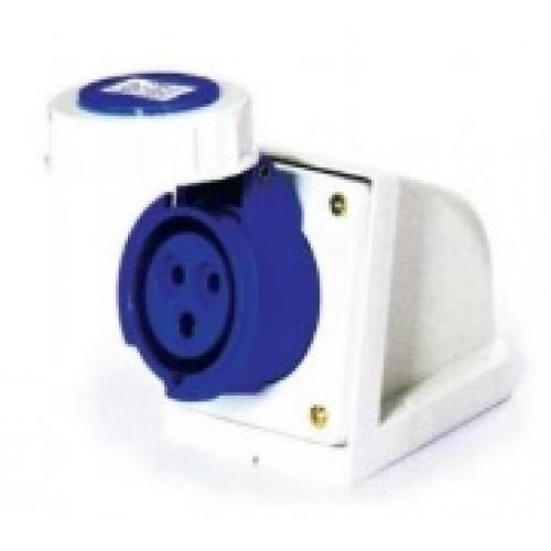 [I184] PRACTICAL TYPE INDUSTRIAL WALL SOCKET IP67 เต้ารับลอยติดผนังกันน้ำ AJ-1132 ราคา 154 บาท