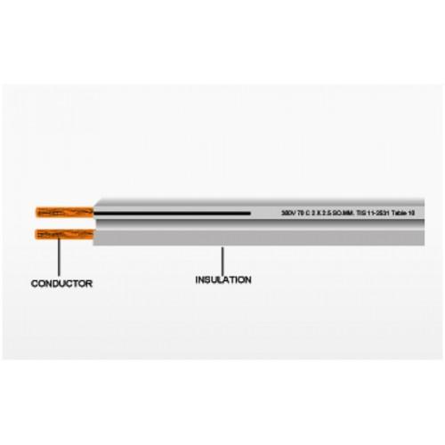 สายอ่อนคู่ VFF  2x2.5 mm 100เมตร Call086-9000-942
