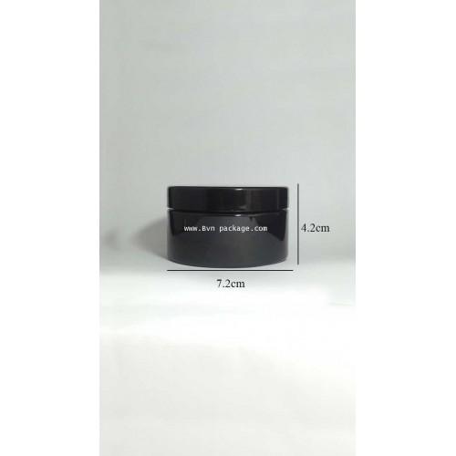 กระปุกพลาสติกPET 150กรัม สีดำ