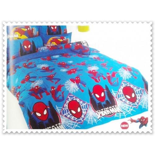 ชุดเครื่องนอน ผ้าปูที่นอนโตโต้ ลายการ์ตูนลิขสิทธิ์ Spiderman สินค้าคุณภาพลายการ์ตูนจาก TOTO