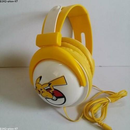 หูฟัง ลาย ปีกาจู pikachu โปเกม่อน pokemon