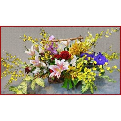 ตะกร้าดอกไม้ flower basket