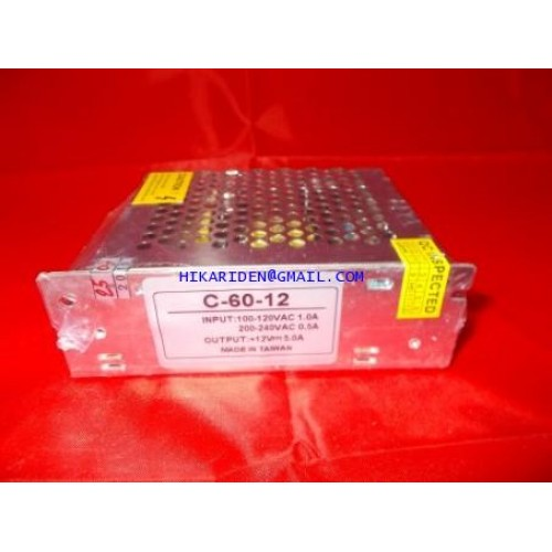 C-60-12  Switching Power Supply 12V 5.0A ������������ 600 ���������