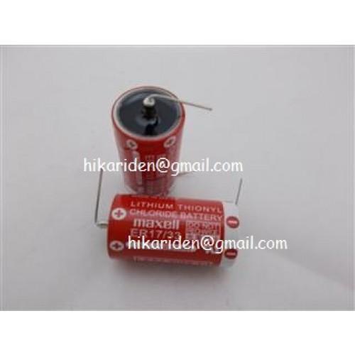 ER1733 3.6V Maxell (ไม่มีสายขั้ว) ราคา 500 บาทก้อน