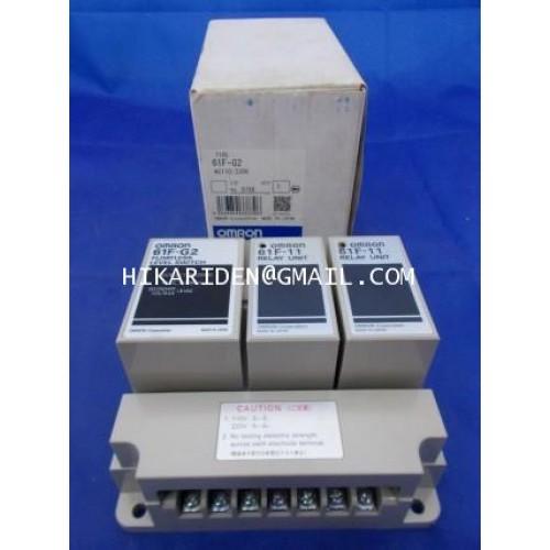 Floatless Level Switch รุ่น 61F-G2 + Relay Unit 61F-11 AC110220V OMRON ราคา 1,780 บาท