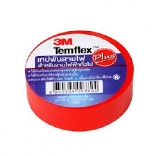 A00069 เทปพันสายไฟ TEMFLEX สีแดง