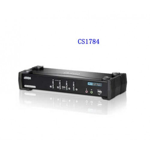 ATEN KVM switches CS1784A 4-Port USB DVI Dual Link KVMP™ Switch