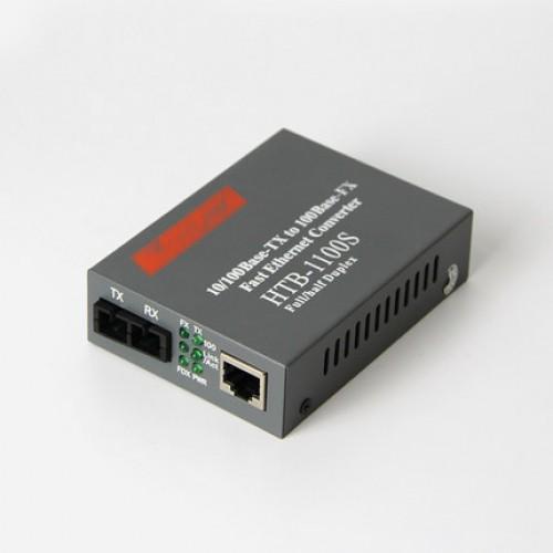 Optical HTB-1100S Media Converter 10100Mbps RJ45 Single Mode Duplex Fiber SC port Converter 25KM