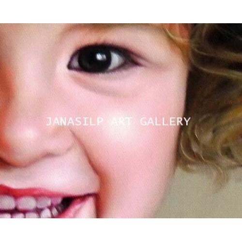 ขายภาพวาดสีน้ำมัน ภาพวาดตกแต่งห้อง ภาพวาดเด็กฝรั่ง01