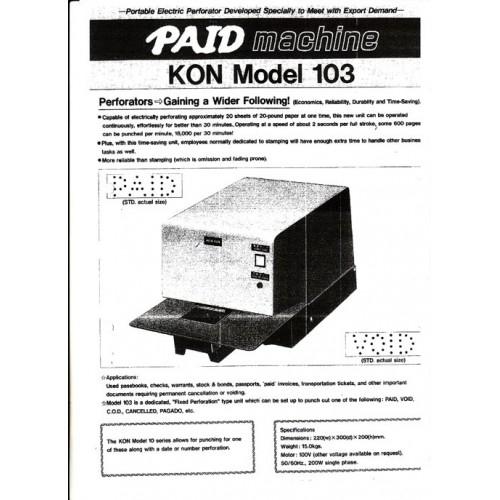 เครื่องปรุ Kon model 103(ปรุเอกสารระบบไฟฟ้า)
