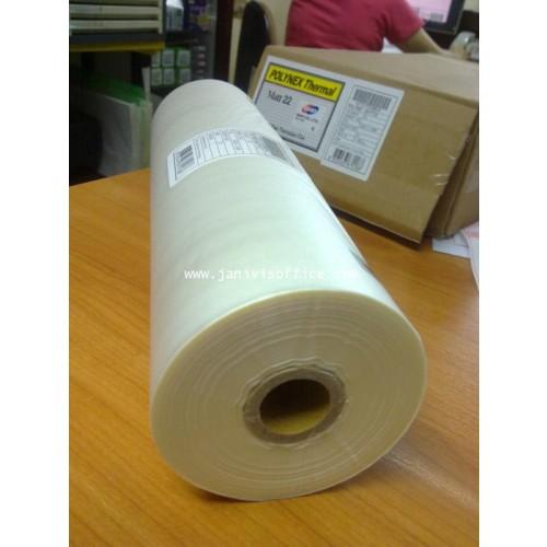 พลาสติกเคลือบม้วนGMPชนิดOPP 22 ไมครอนแบบด้าน,POLYNEX Thermal Film Matt12.5x200M