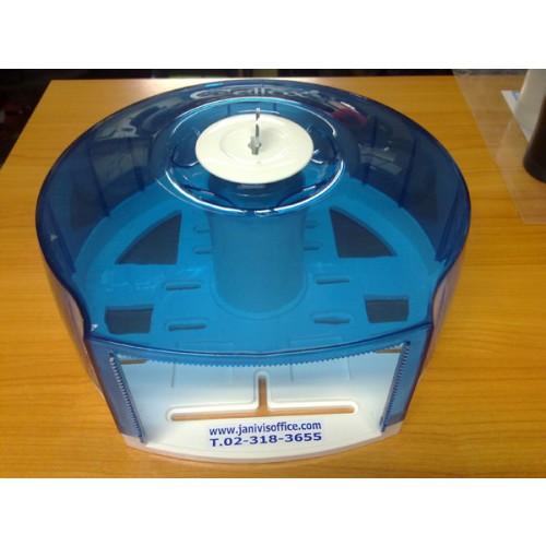 กล่องใส่กระดาษชำระจัมโบ้โรล BJC-HIJINIC สีฟ้าขาว