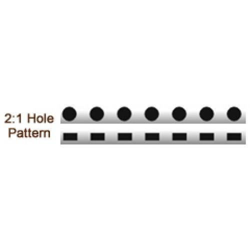 สันขดลวดIBIWIRE 2ข้อ:1 นิ้วขนาด 6มม.สีขาว(รูสี่เหลี่ยมผืนผ้า)100อันกล่อง
