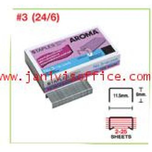 ลวดเย็บกระดาษอโรม่า AROMA Staples เบอร์ 246(3)